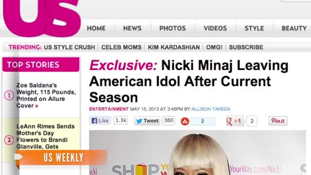 News video: Nicki Minaj Leaving 'American Idol,' Report Says